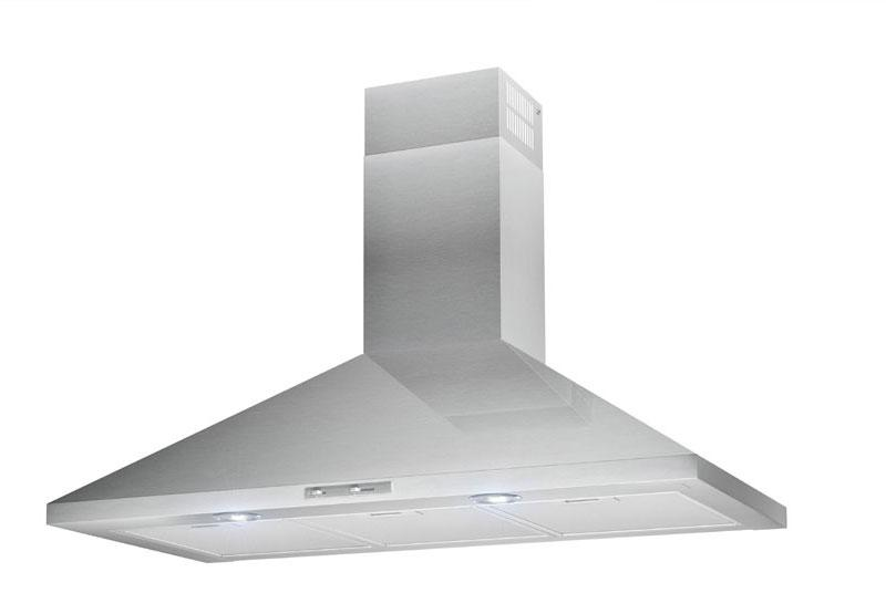 60cm LED Lamp Chimney Style Cooker Hood - Airforce F0 D2 - St/Steel - Product Image
