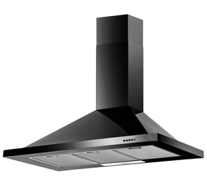 Baumatic F100.2BL 100cm Black Pyramid Chimney Wall Mounted Cooker Hood