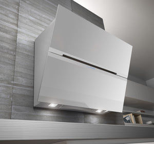 Airforce F179 90cm Wall Mounted Designer Cooker Hood - White Glass