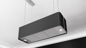 Airforce F181 XXL 100cm Premium Island Cooker Hood With Integra System - Black - LED Lighting Focus