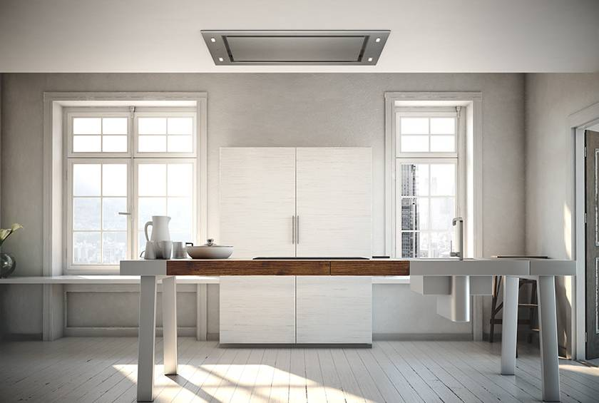 Airforce F88 120cm Premium Ceiling Cooker Hood - Stainless Steel - Lifestyle View