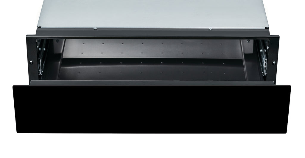 Hoover Vogue Premium HPWD140/1N 14cm Warming Drawer - Black Glass Empty Drawer