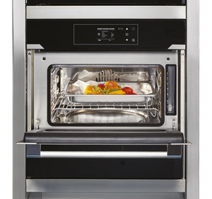Hoover Vogue Premium HSO450SV 45cm Steam Oven - Black Glass and Stainless Steel