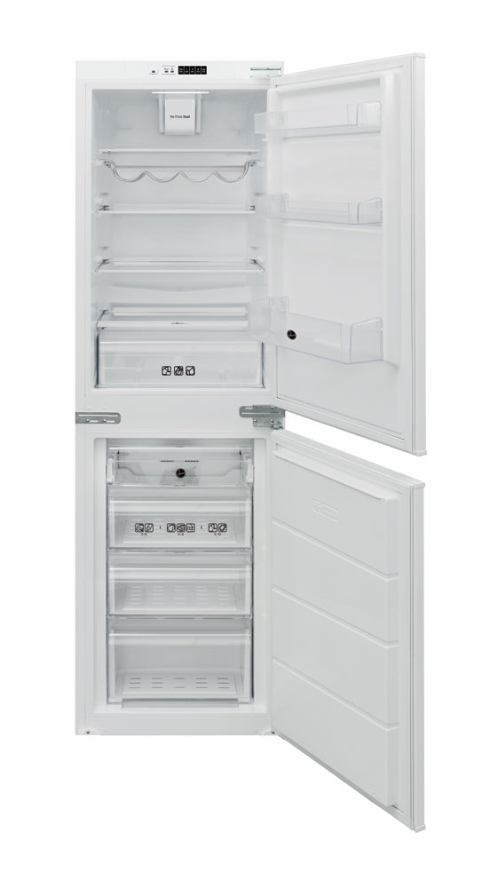 Hoover BHBF 172 UKT 228 Litre Integrated 50:50 Frost Free Fridge Freezer - White - Front View
