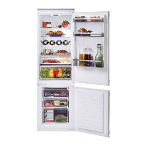 Hoover HBBS 100 UK 250 Litre Integrated 70:30 Fridge Freezer - White - Front View