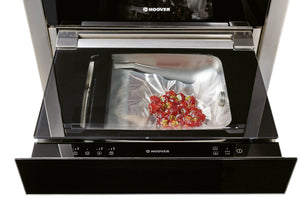 Hoover Vogue Premium HVSD14SV 15 cm Vacuum Sealer Drawer - Black Glass and Stainless Steel
