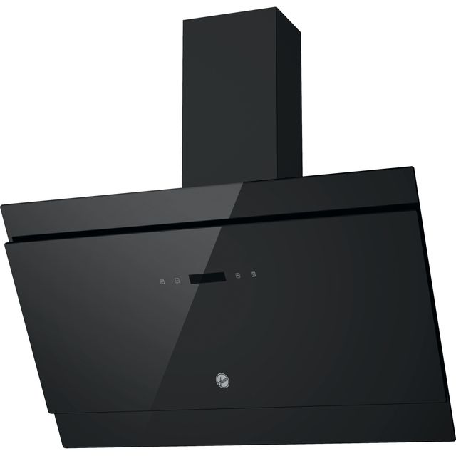 Hoover HDG9DCK3B H500 90cm SLOPED CHIMNEY COOKER HOOD - BLACK GLASS