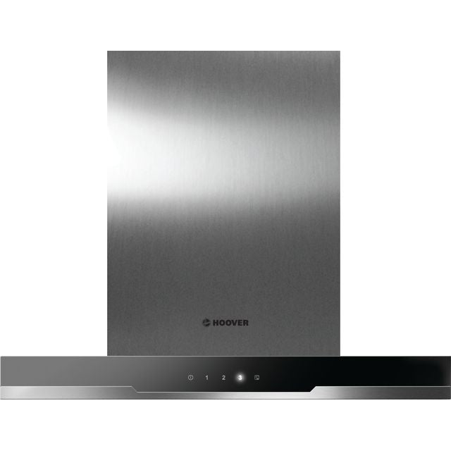 Hoover HDSV685B 60 cm Chimney Cooker Hood - Black Glass & Stainless Steel