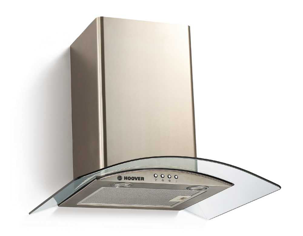 Hoover HGM600X 60cm GLASS DECOR HOOD - Stainless Steel & Transparent Glass