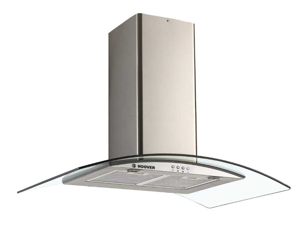 Hoover HGM900X 90cm GLASS DECOR HOOD - Stainless Steel & Transparent Glass