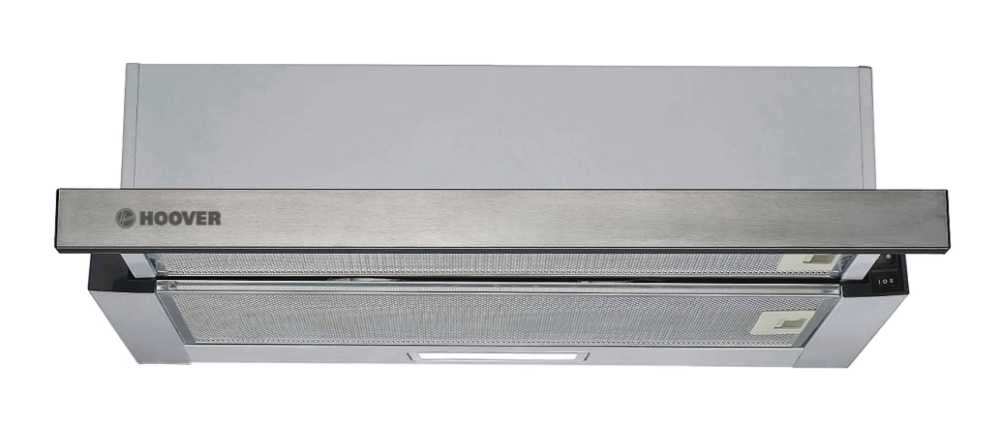 Hoover HHT6300/2X 60cm BUILT-IN TELESCOPIC COOKER HOOD - Stainless Steel