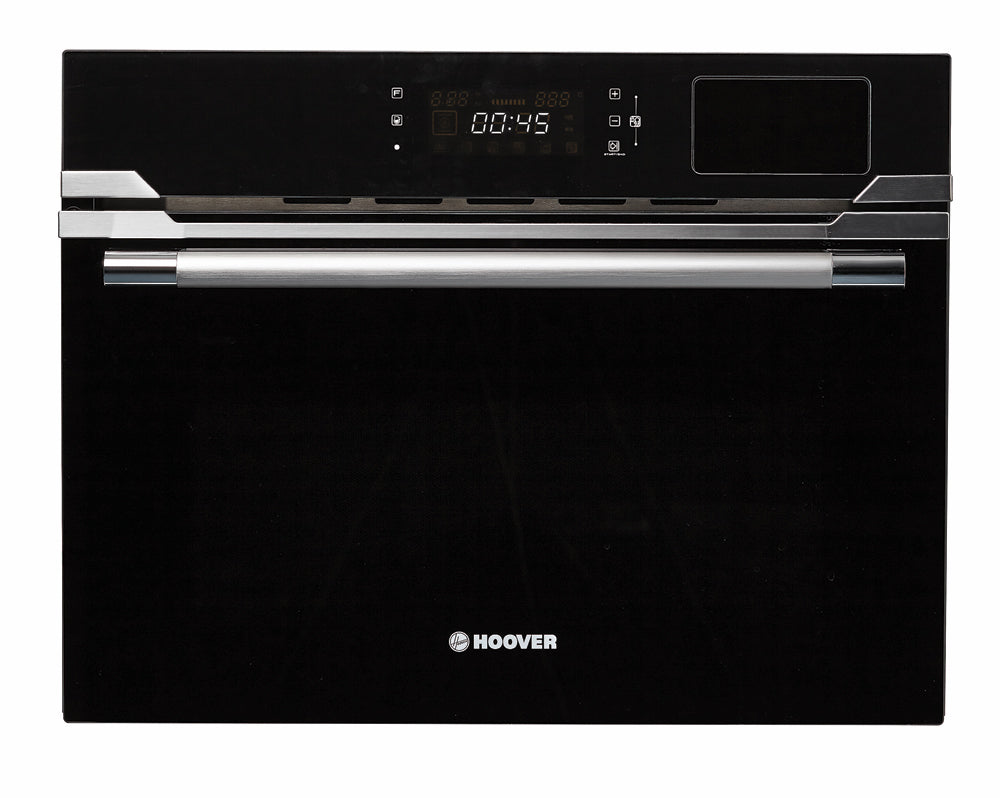 Hoover HMS340VX 34L BUILT-IN STEAM OVEN AND GRILL Black Glass & Stainless Steel