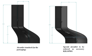 Airforce KRASP001 Air outlet modification for Aspira Slim Downdraft Induction Hobs Technical Image