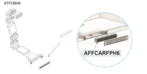 Airforce Long Life Installation Kit For Aspira Centrale G5 On-Board Downdraft Hob For  6cm-9cm Plinth Height