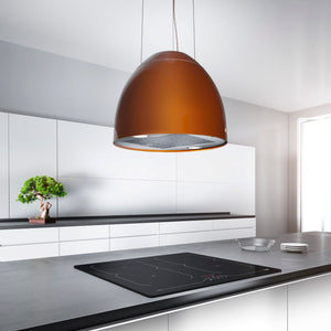 Airforce New Moon 45cm Island Cooker Hood with Integra System - Copper