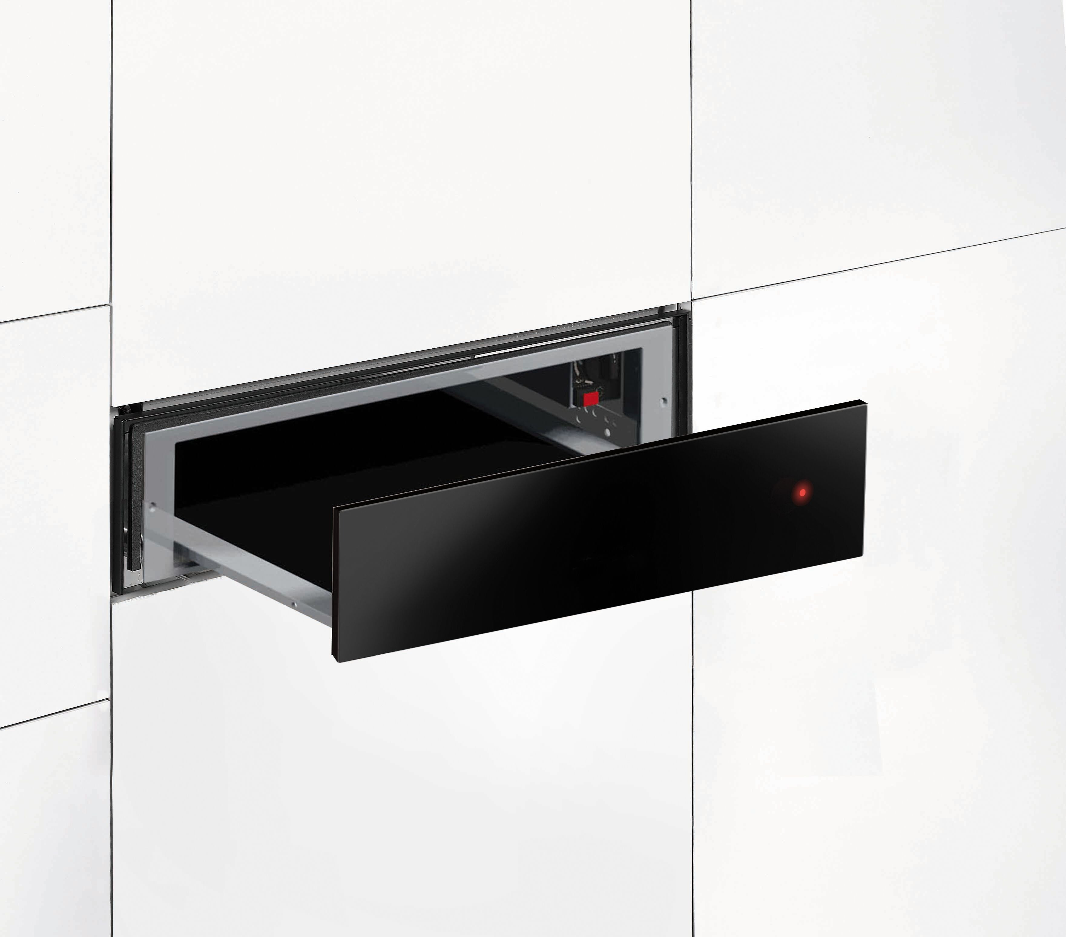 Hoover Vogue Premium HPWD140/1N 14cm Warming Drawer - Black Glass Lifestyle Image