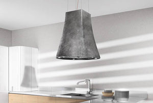 Airforce Adel 50cm Island Lamp Hood with Integra System - Pewter