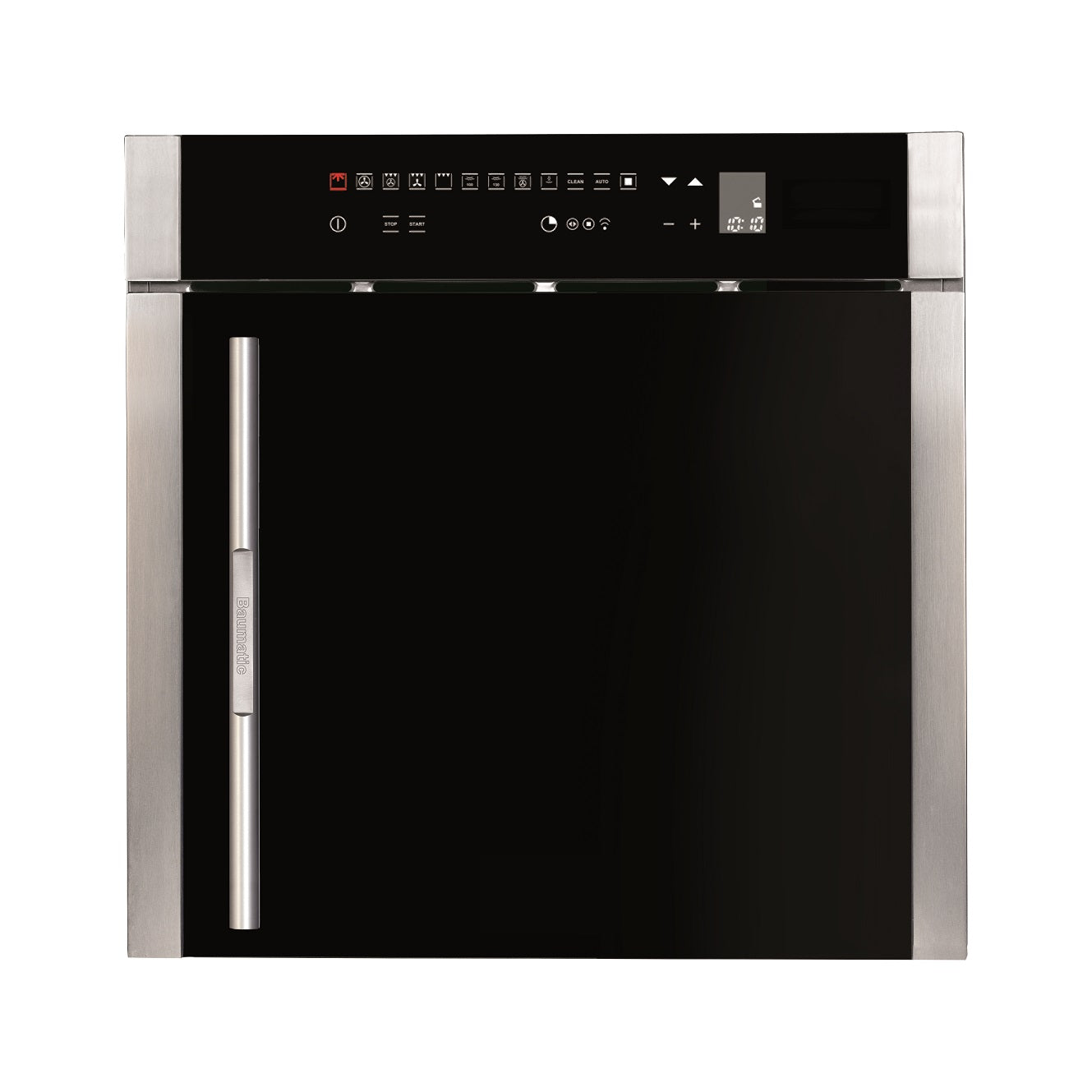 Baumatic BO667TS.SO 60cm Premium-Line Multifunction Oven Black Glass & Titanium
