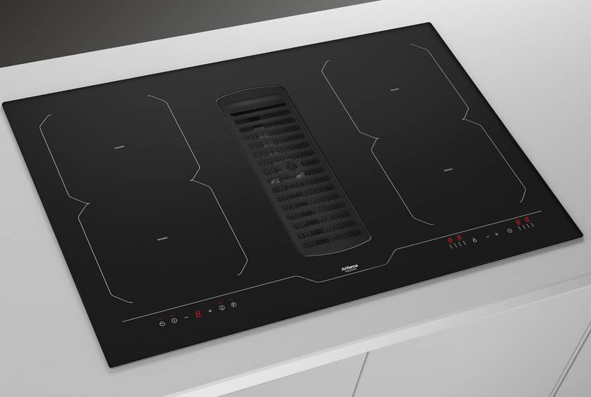 78cm Downdraft Induction hob - Airforce Aspira Centrale B2 Octa - Installed Example