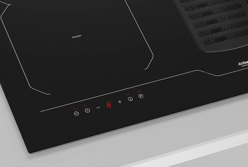 78cm Downdraft Induction hob - Airforce Aspira Centrale B2 Octa - Touch Controls