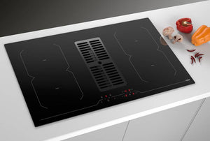 Airforce Aspira Centrale B2 Octa 86cm Induction Hob With Downdraft - Installed Example