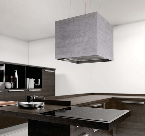 Airforce Concrete 40cm Island Lamp Cooker Hood with Integra System