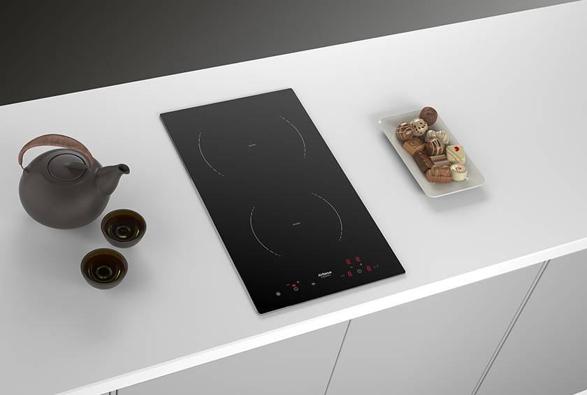 Airforce Integra Domino B2 Eco Induction Hob - Black Lifestyle Image