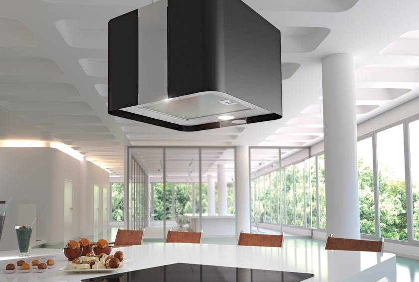 Airforce F181 45cm Premium Island Cooker Hood With Integra System - Black