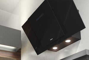 Airforce F204 90cm Automatic Angled Cooker Hood - Black Glass Lighting Image