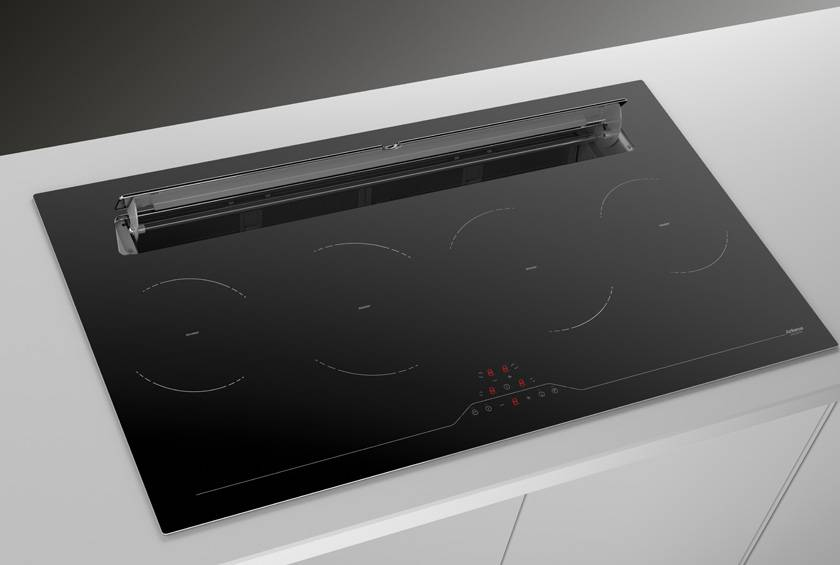 90cm Downdraft Induction hob - Airforce Slim B2 Eco - Installed Example