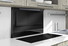 Airforce Splashback Urbani 87cm Induction Hob with Cooker Hood - Black Glass