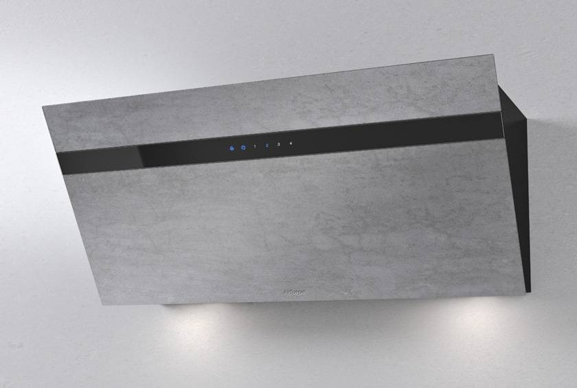 Airforce Gres V13 90cm Flat Wall Mounted Cooker Hood - Grey Stone