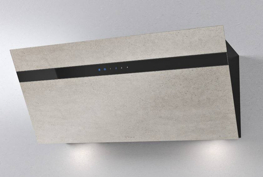 Airforce Gres V14 90cm Flat Wall Mounted Cooker Hood - Ivory Stone