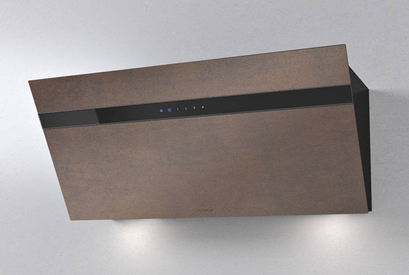 Airforce Gres V16 60cm Flat Wall Mounted Cooker Hood Brown Oxide Stone