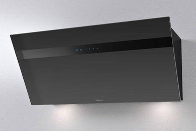 Airforce V4 90cm Flat Wall Mounted Cooker Hood - Black glass