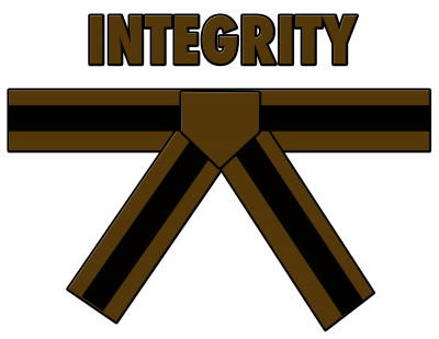 Brown Belt with Black Stripe - Integrity