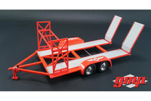 Tandem Car Trailer Texaco with Tire Rack 1:18 Diecast