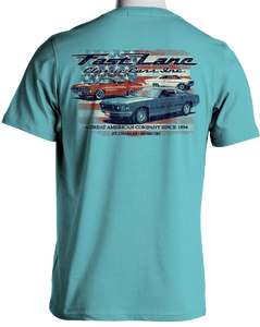 Fast Lane Classic Cars Stars and Stripes Ford T-Shirt