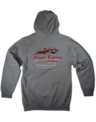 Fast Lane Vintage Zip Up Hoodie