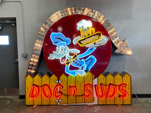 Dog n Suds Neon Light Up Sign