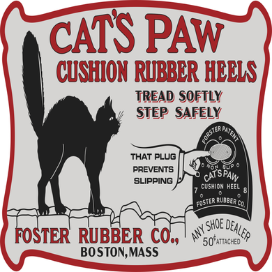 Cats Paw Rubber Vintage Style Sign