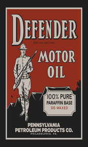 Defender Motor Oil Vintage Style Sign