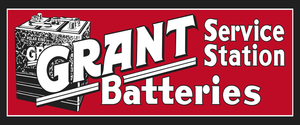 Grant Batteries Vintage Style Sign