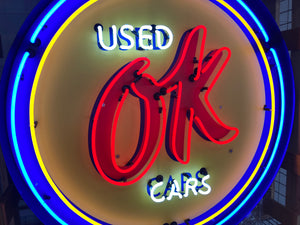 OK Used Cars Neon Sign