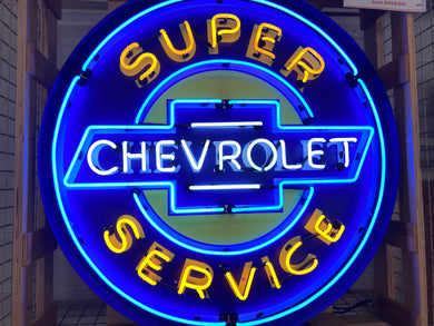 Chevrolet Super Service Neon Sign