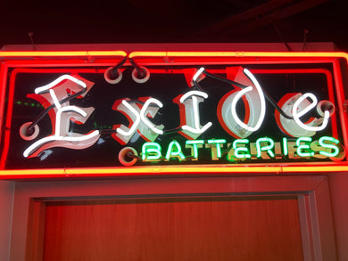 Exide Batteries Neon Sign