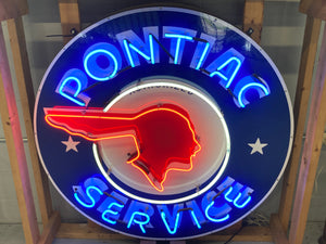 Pontiac Service Indian Neon Sign
