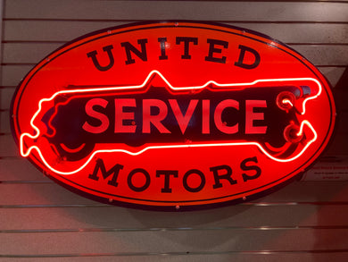 United Service Motors Neon Sign