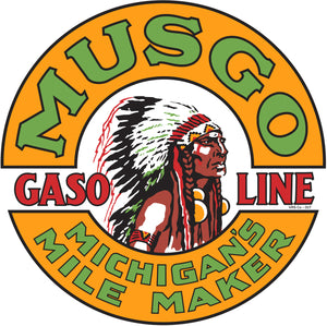 Musco Gasoline Vintage Style Sign