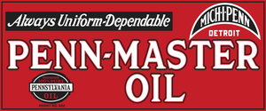 Penn-Master Oil Vintage Style Sign